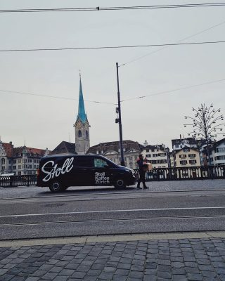 Good morning from Zurich!  Our coffee getting delivered directly to our customers.. where do you enjoy our coffee?  #shoplocal #stollkaffee