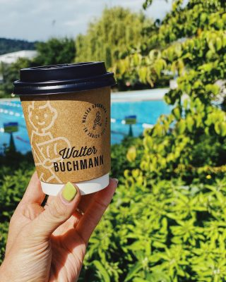 Summer in the city!  Perfect day to grab a coffee @walter.buchmann & go for a swim 💦  You can also buy our organic brasil beans at their stores!